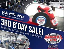 #31 for Hammer's Gym 3rd Birthday Sale by wawancreat