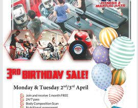 #56 for Hammer's Gym 3rd Birthday Sale by shohan33