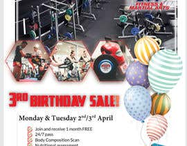 #57 for Hammer's Gym 3rd Birthday Sale by shohan33