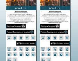 #11 for Design a mock for one page website by designerdesign4