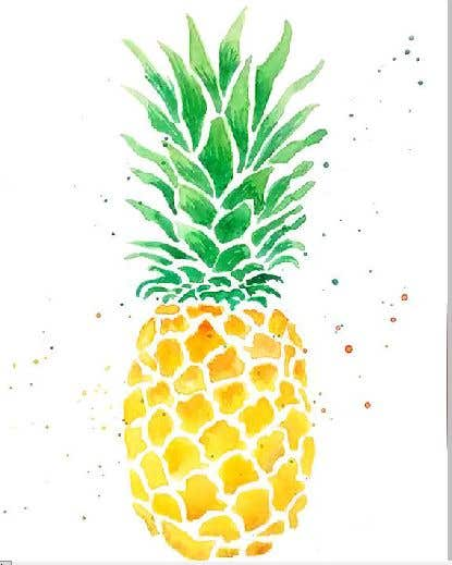 Contest Entry #18 for I need you to make a simple design of a pineapple. It doesnt really need to much detail. Just have a yellow pineapple with a green top (leaves).