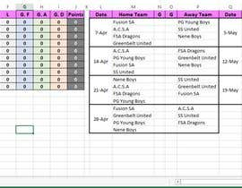 #5 for soccer league table spreedsheet by rambo42mach