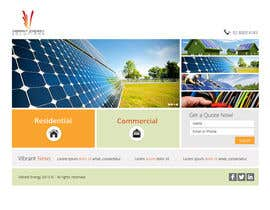 #89 untuk Website Design for Vibrant Energy Solutions oleh Pavithranmm