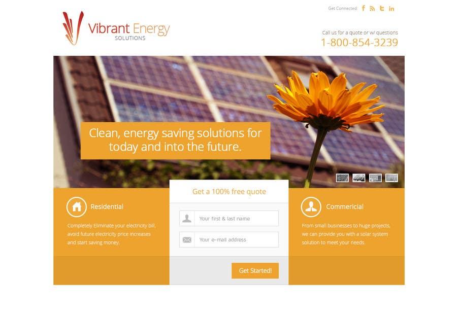 Konkurrenceindlæg #65 for Website Design for Vibrant Energy Solutions