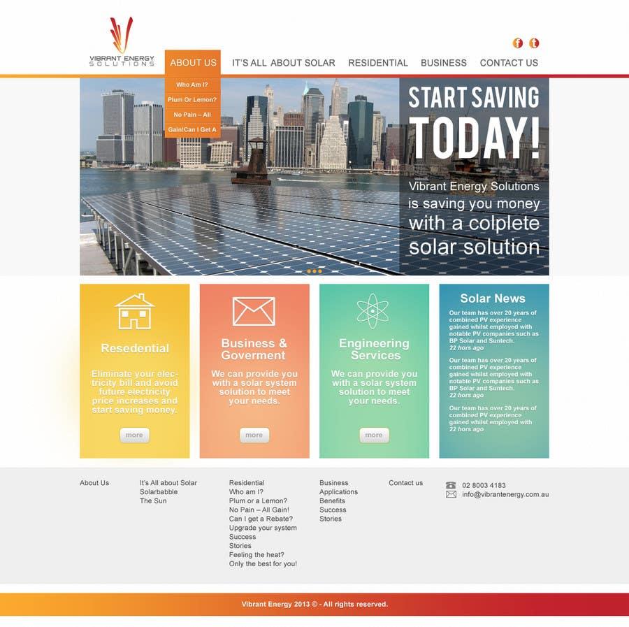 Konkurrenceindlæg #1 for Website Design for Vibrant Energy Solutions