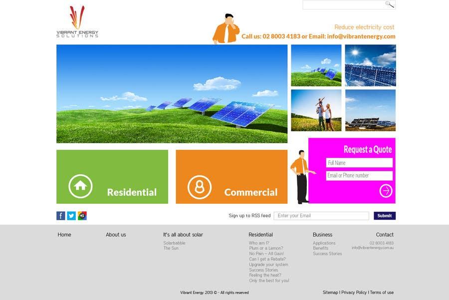 Конкурсная заявка №91 для Website Design for Vibrant Energy Solutions