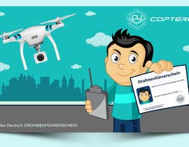 #121 para Design a Banner for a magazine's competition which is about the drone licence de talk2anilava