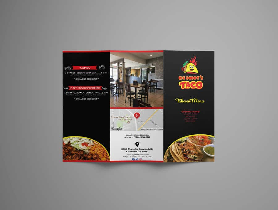 Contest Entry 18 For Need A Takeout Menu Design Restaurant