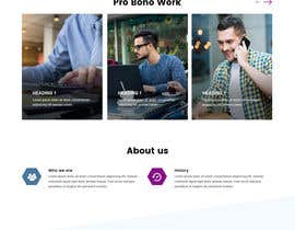 #41 untuk One page mockup for a website (landing page) oleh syrwebdevelopmen