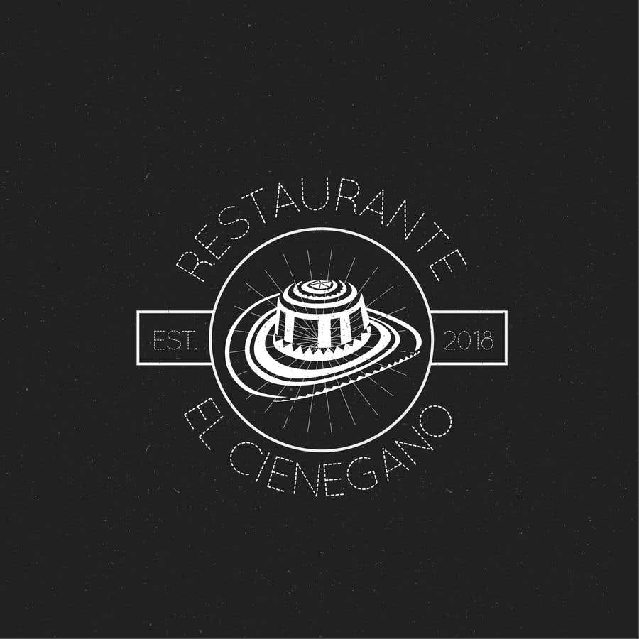 """Konkurrenceindlæg #16 for Hi guys! I need your help to create the logo of my new restaurant. It is called """"RESTAURANTE EL CIENEGANO"""". I attach proposed colors and concept. It is important that the logo bears a hat typical of the Colombian Caribbean coast since that is the theme"""