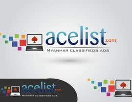 nº 75 pour company logo icon with acelist.com and Myanmar classifieds ads text par nareshitech