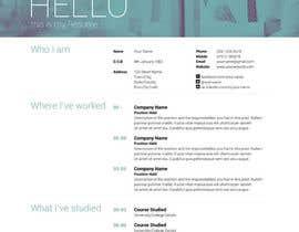 #7 cho I need a infographic cv/resume. bởi Decomex