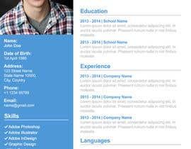#23 cho I need a infographic cv/resume. bởi thewolfmenrock