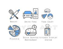 #8 per Design 8 custom icons for a startup website (Flat / Cartoon type) da symtanriverdi