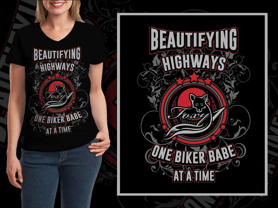 2cad8236 Contest Entry #28 for Design a AMAZING T-Shirt for a Ladies Motorcycle  Apparel