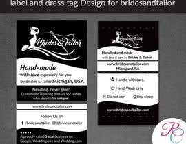 #14 para Designing a label and dress tag for my customized wedding dresses. por ReallyCreative