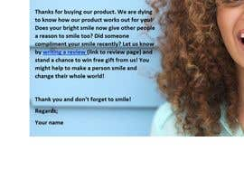 #39 for Write highly effective review request email template + email subject line for a product by amalinasooudin