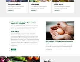 #6 pentru Build the website for the first food animal welfare compensation platform: foodoffset.org, simple but slick (without payment page) de către u2smile85