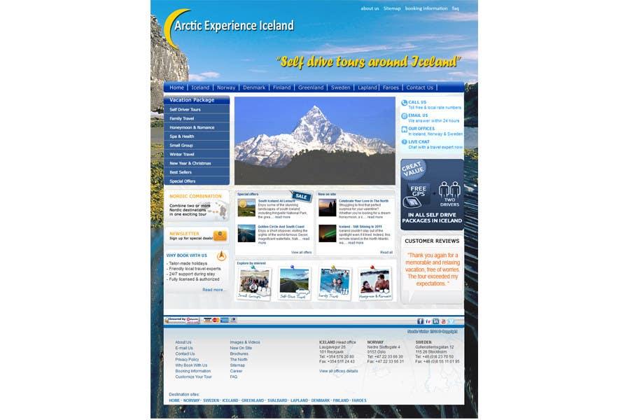 Natečajni vnos #                                        10                                      za                                         Website Design for Arctic Experience Iceland