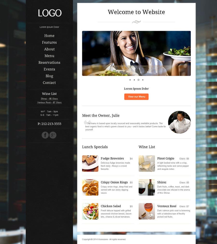 Penyertaan Peraduan #                                        5                                      untuk                                         Build a Website for a restaurant and a one page website for a small community