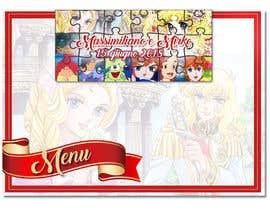 Nro 5 kilpailuun Wedding menu design käyttäjältä GraphicWork15