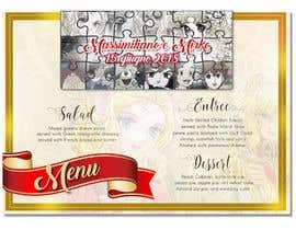 Nro 7 kilpailuun Wedding menu design käyttäjältä GraphicWork15
