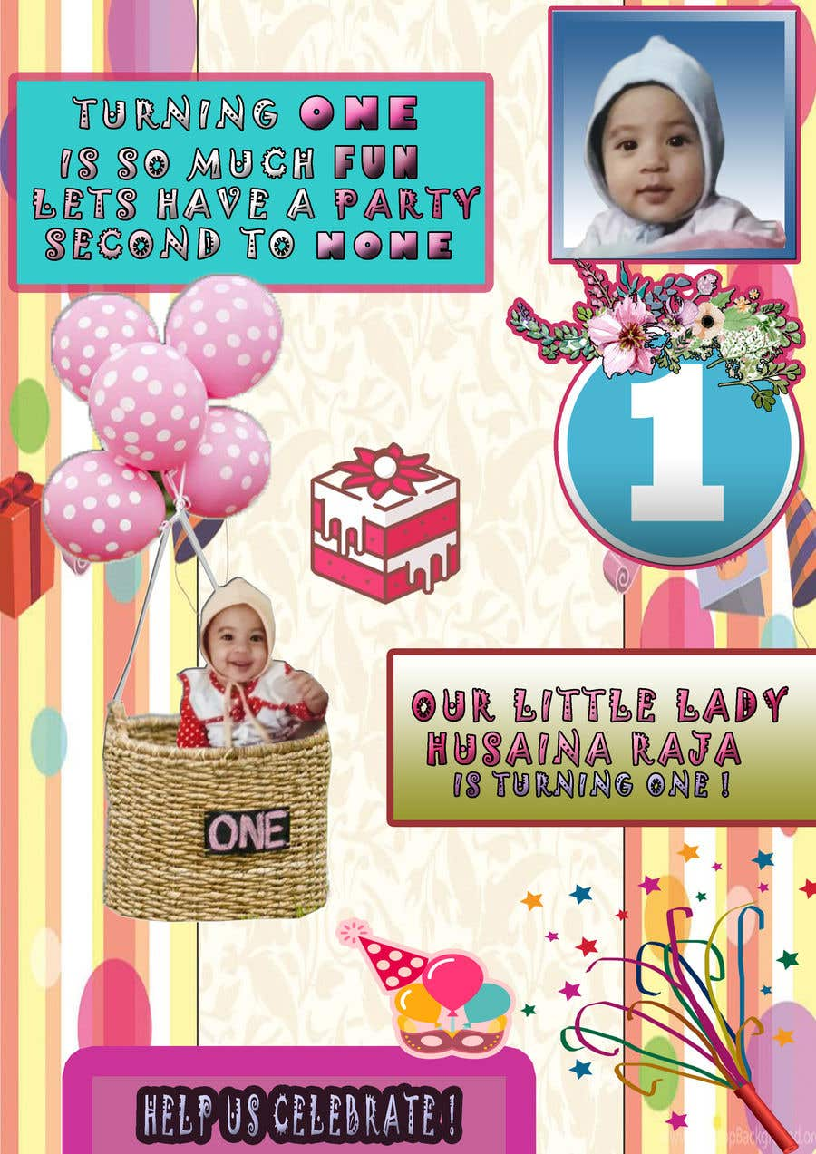 Entry 24 By Fddesign For Design A Birthday Invite For Baby