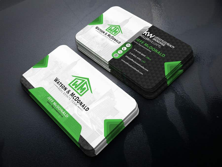 entry 44 by mstasmanori10 for real estate business card template