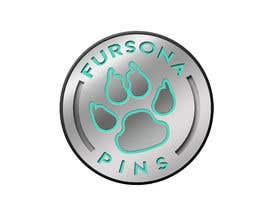 """#14 for Please design a logo for an enamel pin company named """"Fursona Pins."""" It should be themed like an enamel pin, in the shape of a paw. by b4drb3ats"""