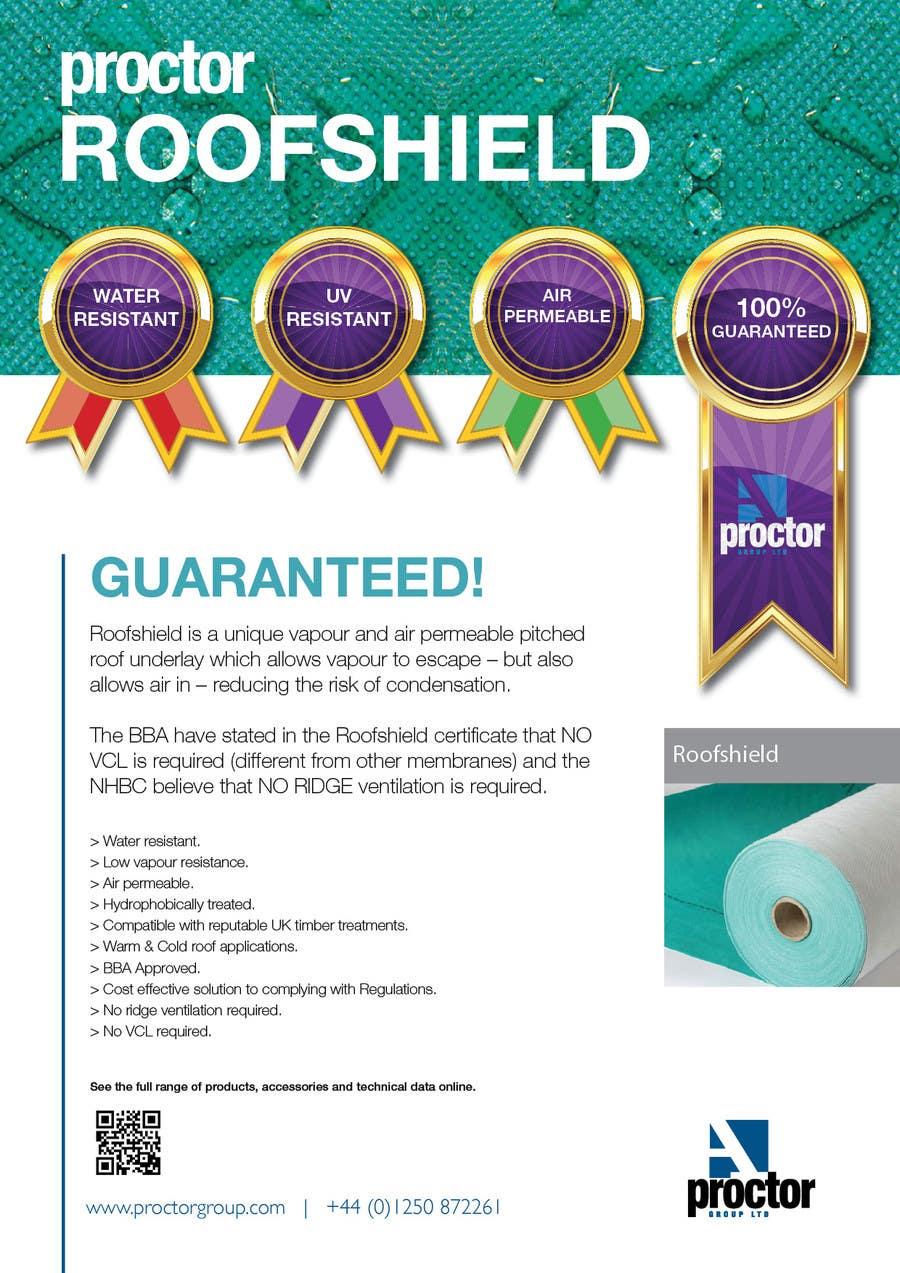 Inscrição nº 83 do Concurso para Roofshield Advertisement Design for A. Proctor Group Ltd