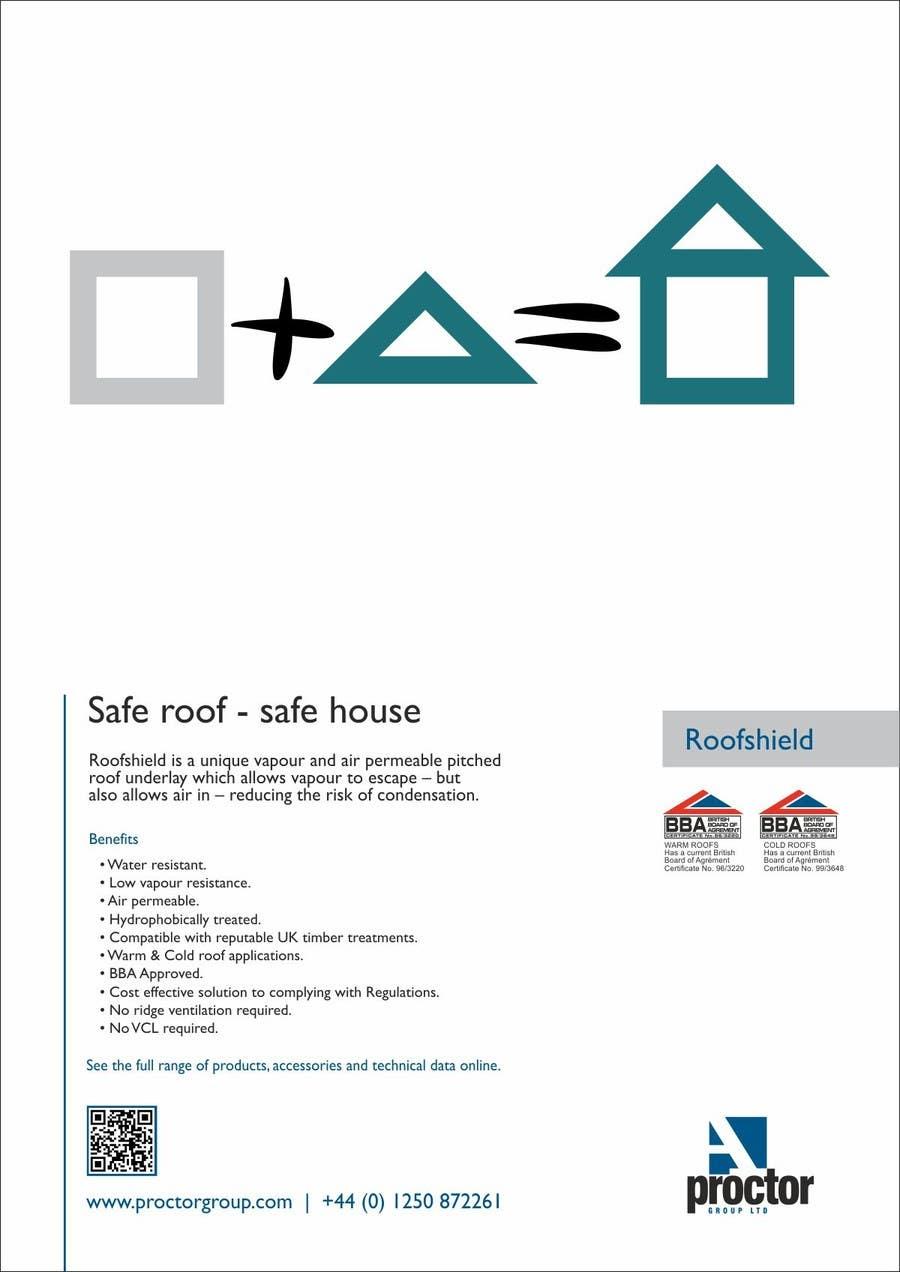 Конкурсная заявка №29 для Roofshield Advertisement Design for A. Proctor Group Ltd