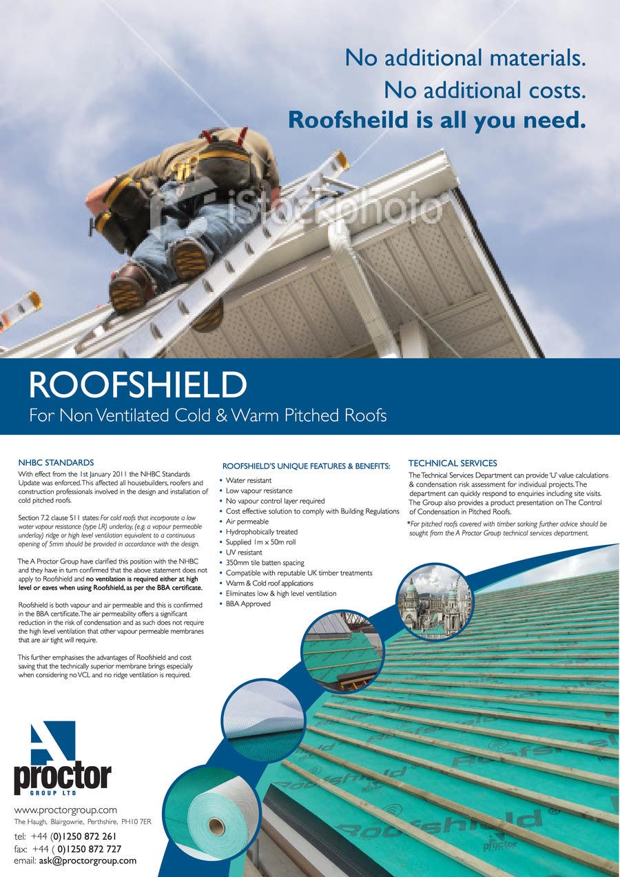 Proposition n°72 du concours Roofshield Advertisement Design for A. Proctor Group Ltd