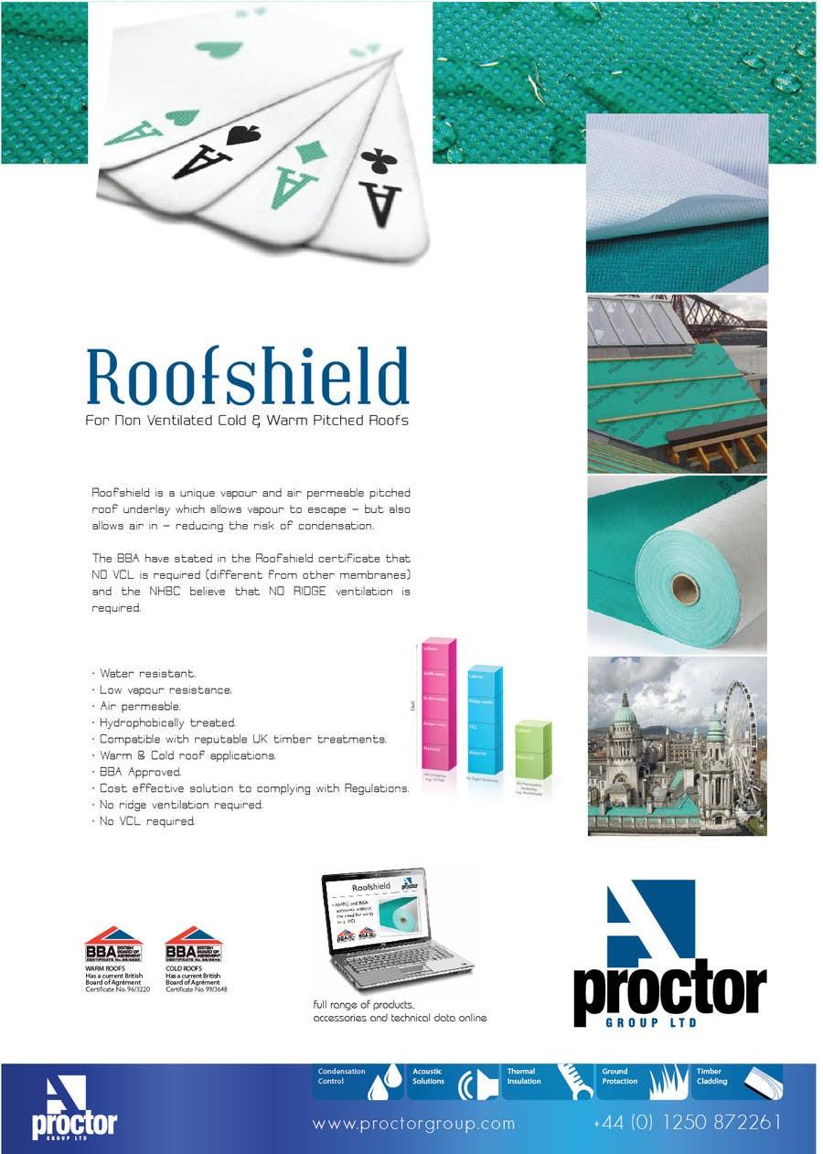 Inscrição nº 73 do Concurso para Roofshield Advertisement Design for A. Proctor Group Ltd