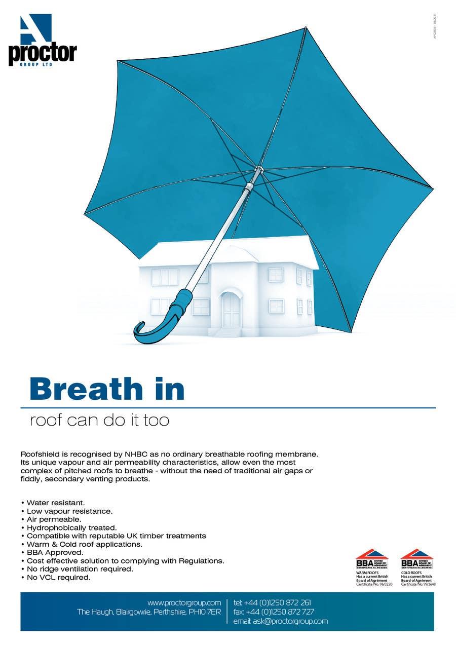 Inscrição nº 128 do Concurso para Roofshield Advertisement Design for A. Proctor Group Ltd