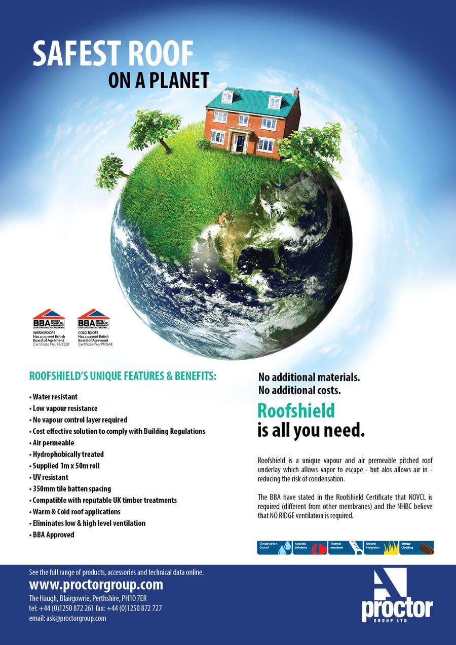 Inscrição nº 99 do Concurso para Roofshield Advertisement Design for A. Proctor Group Ltd