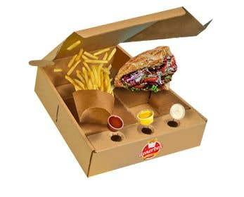 Imagem de                             Doner Kebab Box Packaging Design...