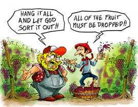 ecomoglio tarafından Vineyard manager and winemaker cartoon için no 14