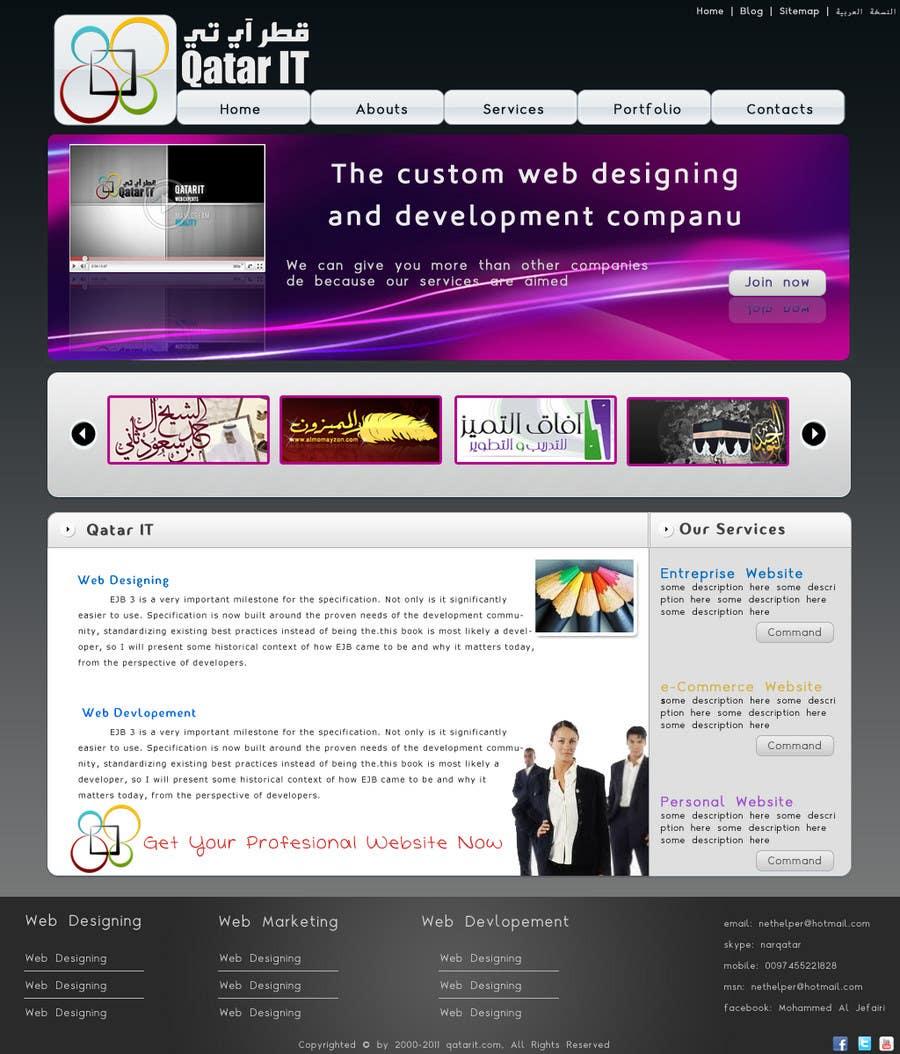 Inscrição nº                                         24                                      do Concurso para                                         Website Design for Qatar IT