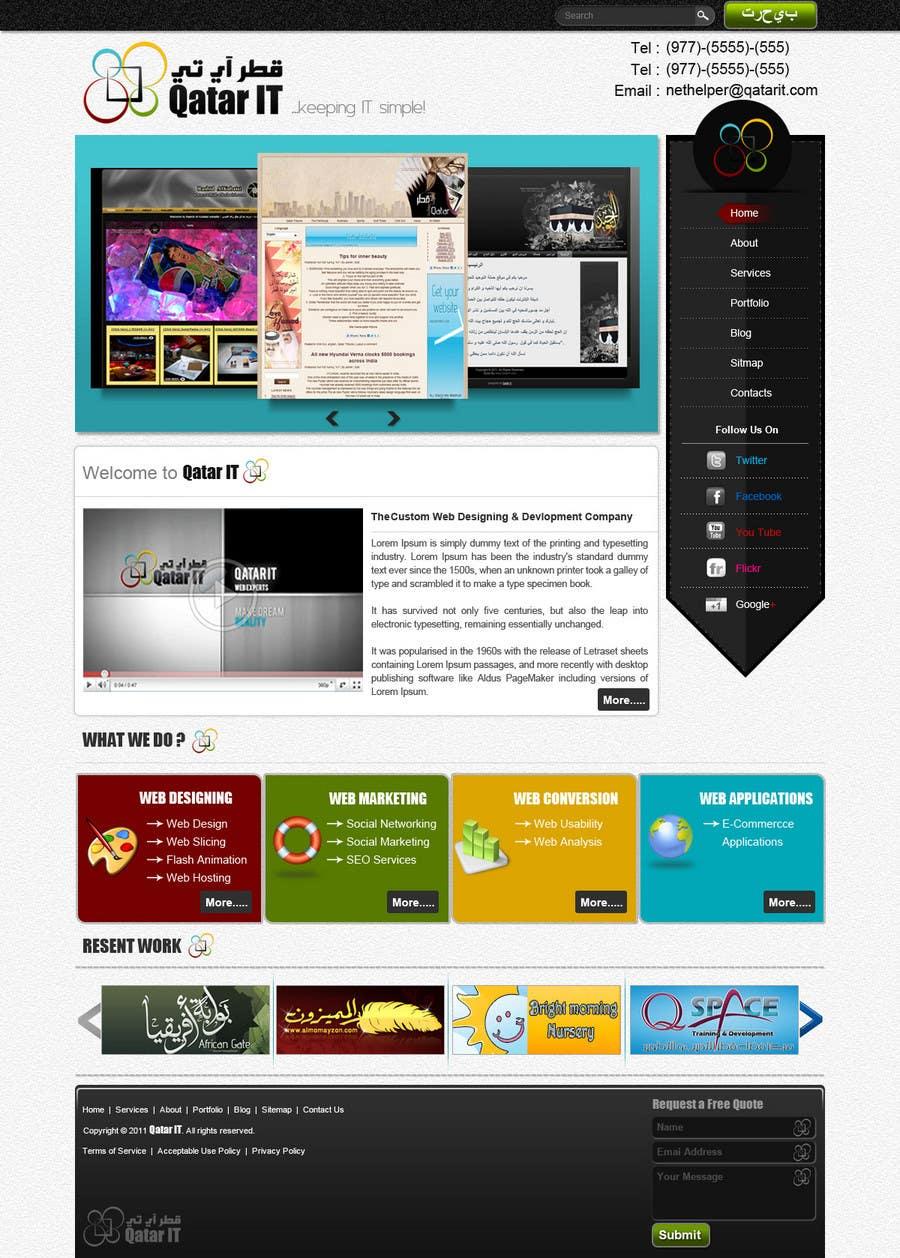 Bài tham dự cuộc thi #                                        38                                      cho                                         Website Design for Qatar IT