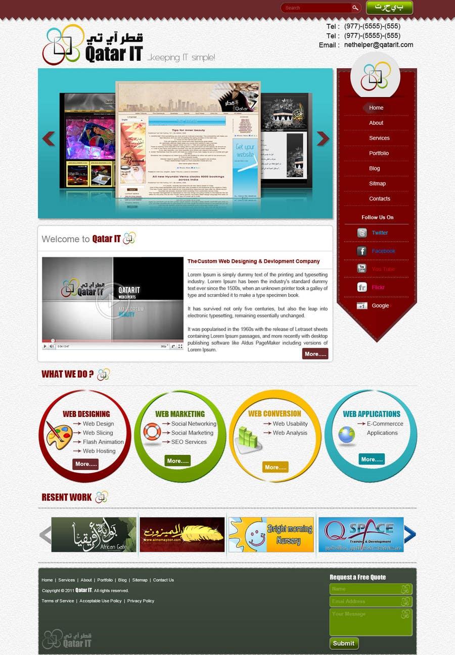 Bài tham dự cuộc thi #                                        61                                      cho                                         Website Design for Qatar IT