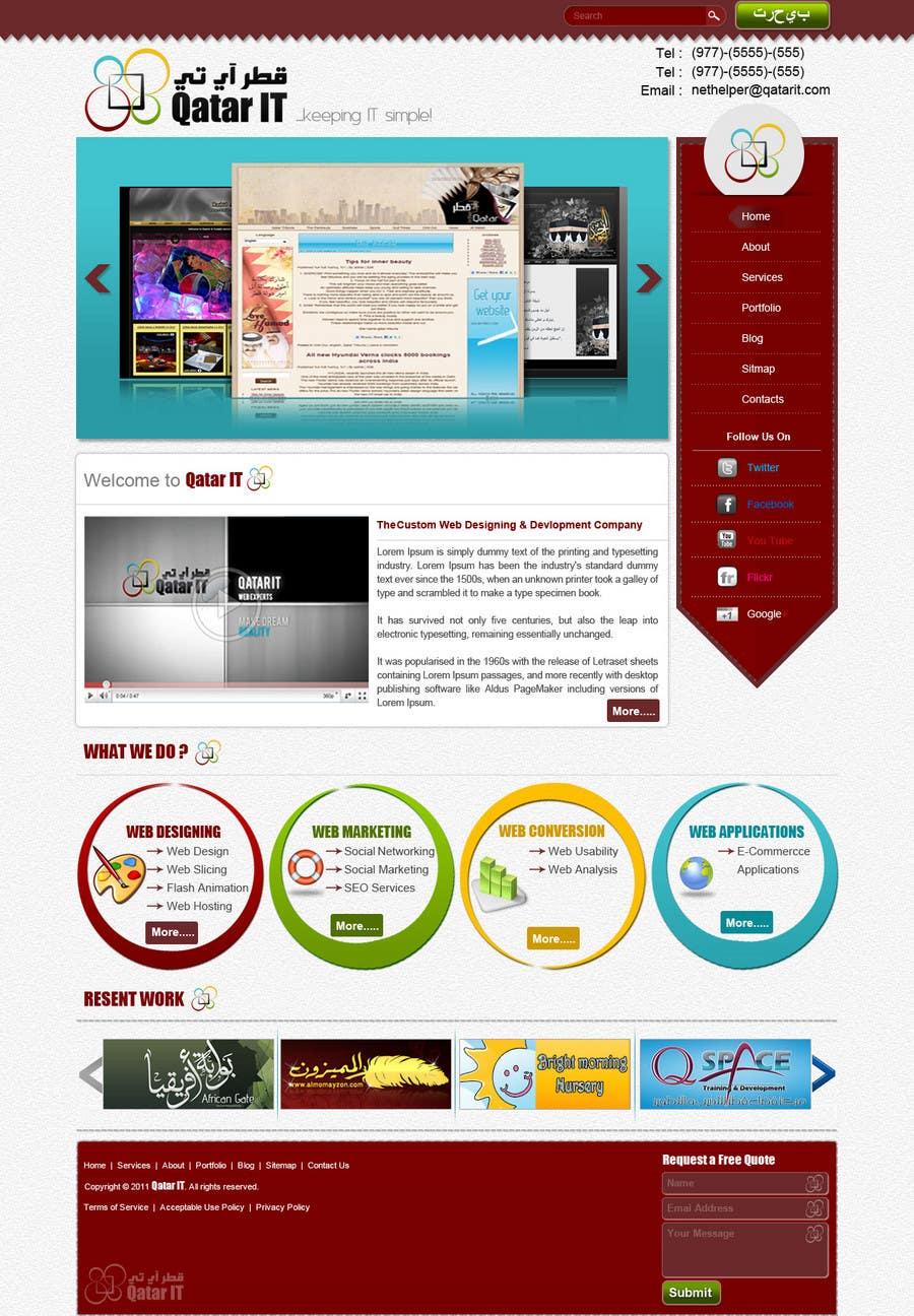 Bài tham dự cuộc thi #                                        60                                      cho                                         Website Design for Qatar IT