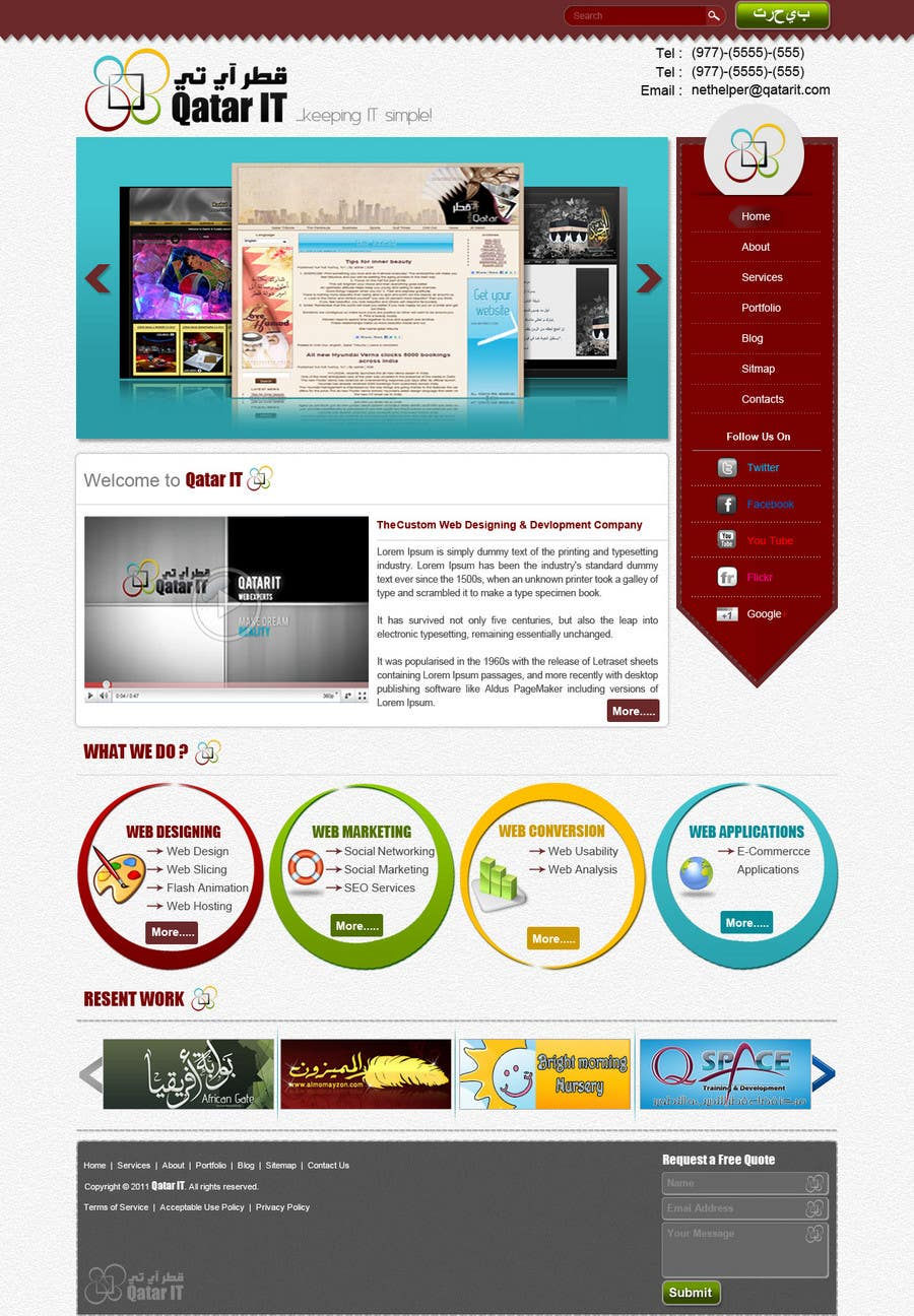 Bài tham dự cuộc thi #                                        85                                      cho                                         Website Design for Qatar IT