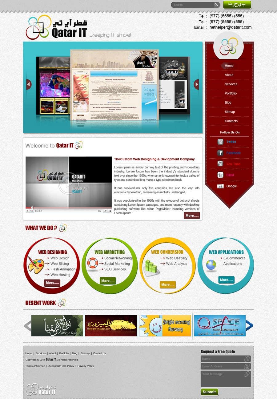 Bài tham dự cuộc thi #                                        99                                      cho                                         Website Design for Qatar IT