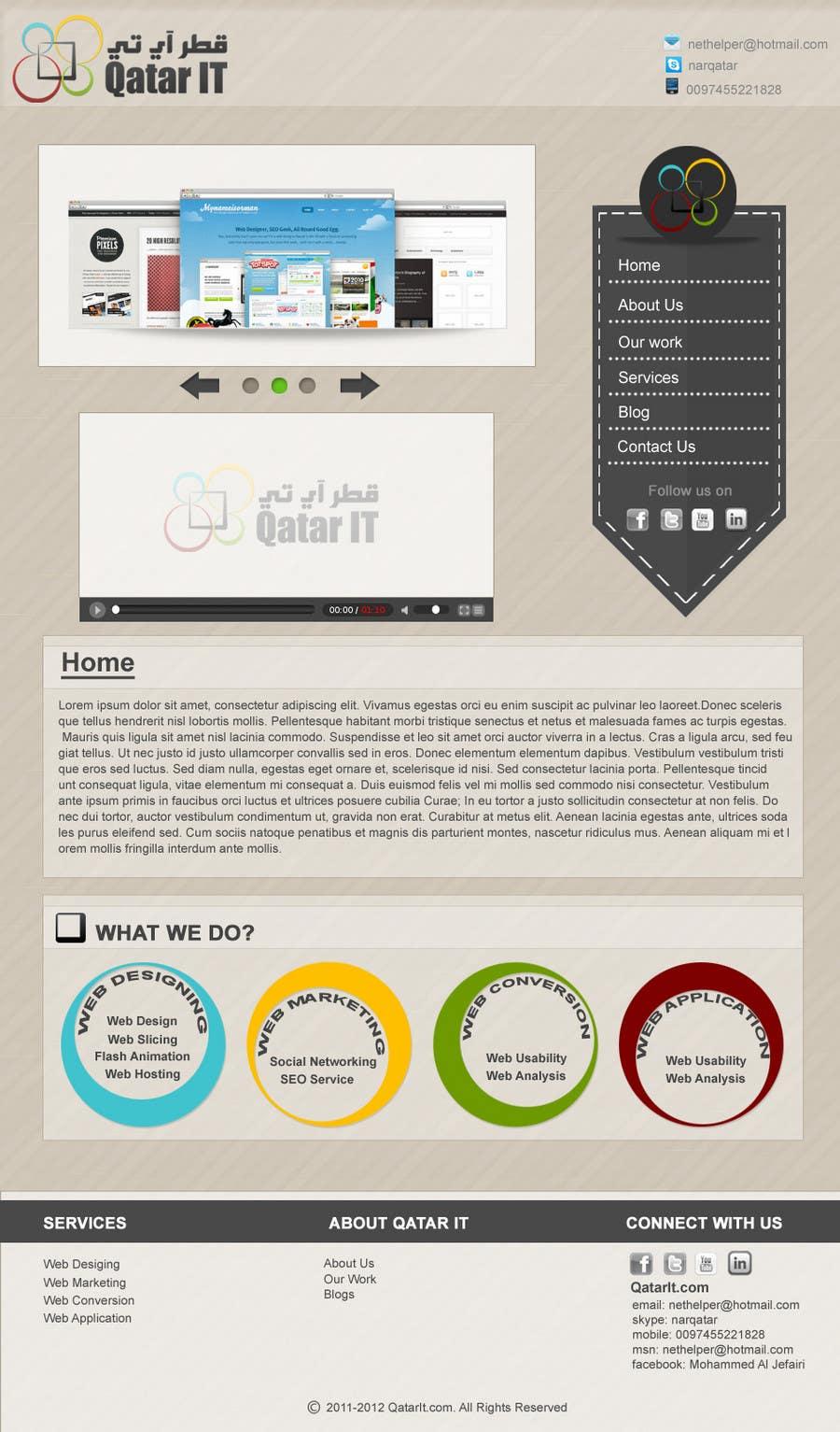 Bài tham dự cuộc thi #                                        101                                      cho                                         Website Design for Qatar IT