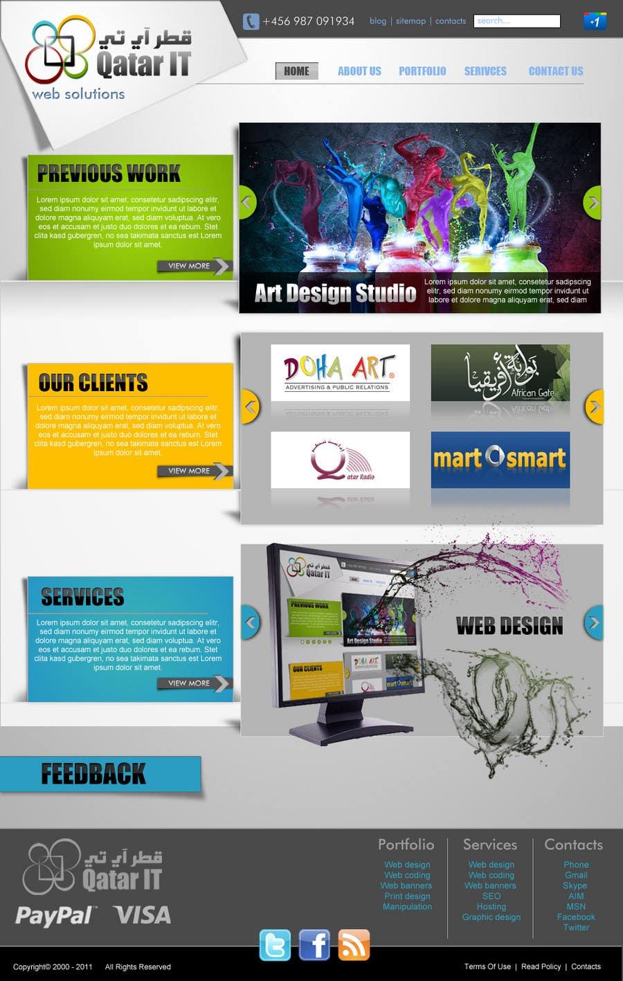 Konkurrenceindlæg #                                        26                                      for                                         Website Design for Qatar IT