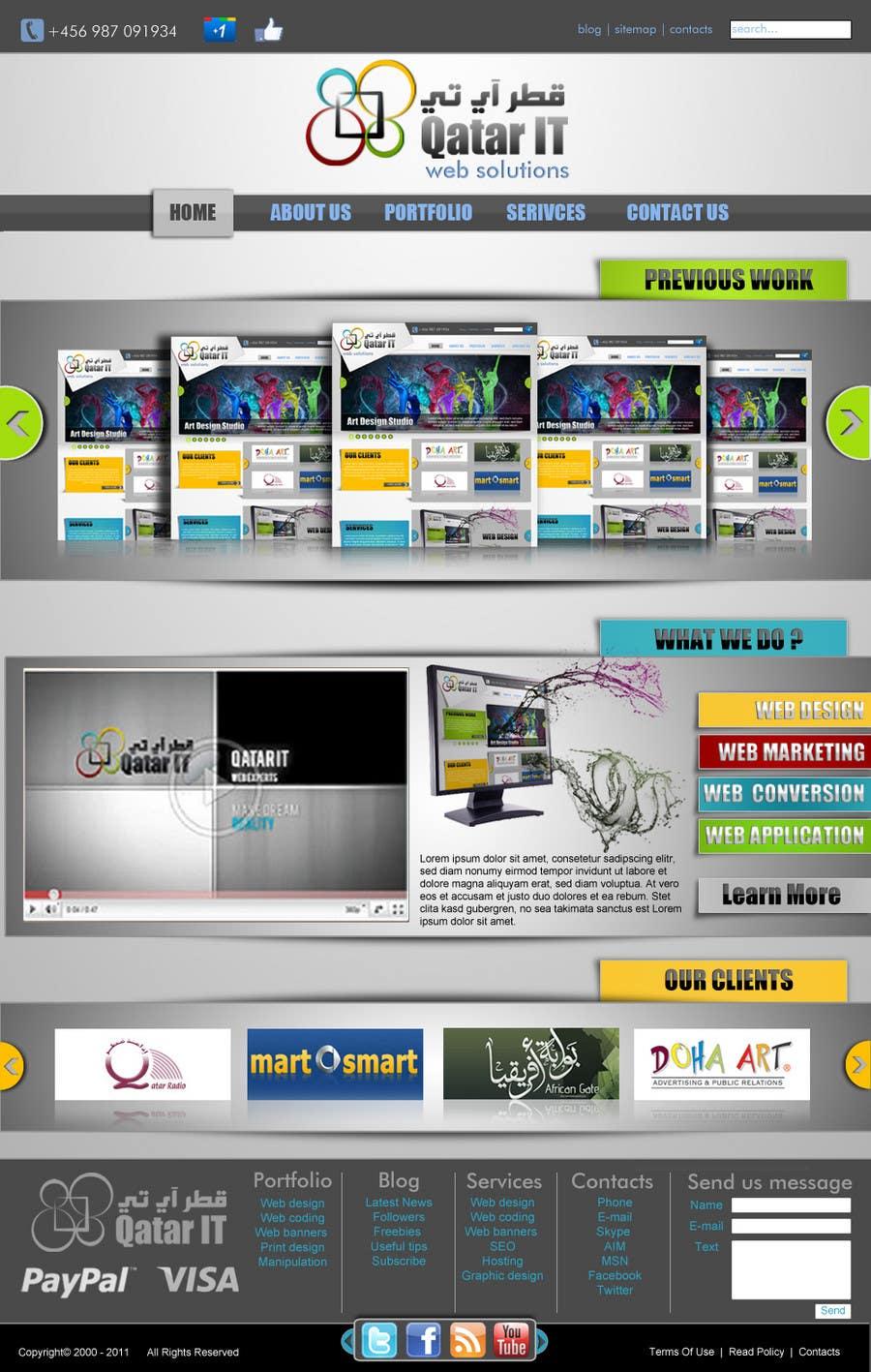 Inscrição nº                                         66                                      do Concurso para                                         Website Design for Qatar IT