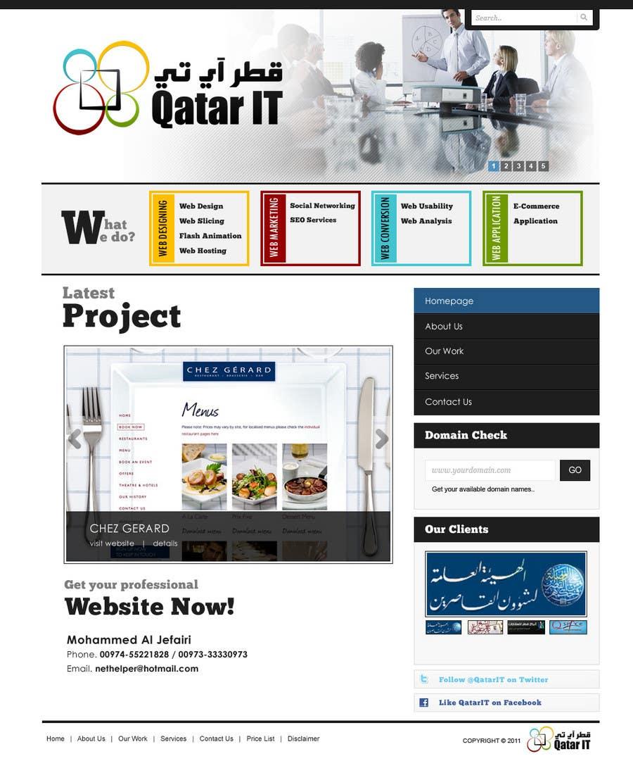 Inscrição nº                                         77                                      do Concurso para                                         Website Design for Qatar IT