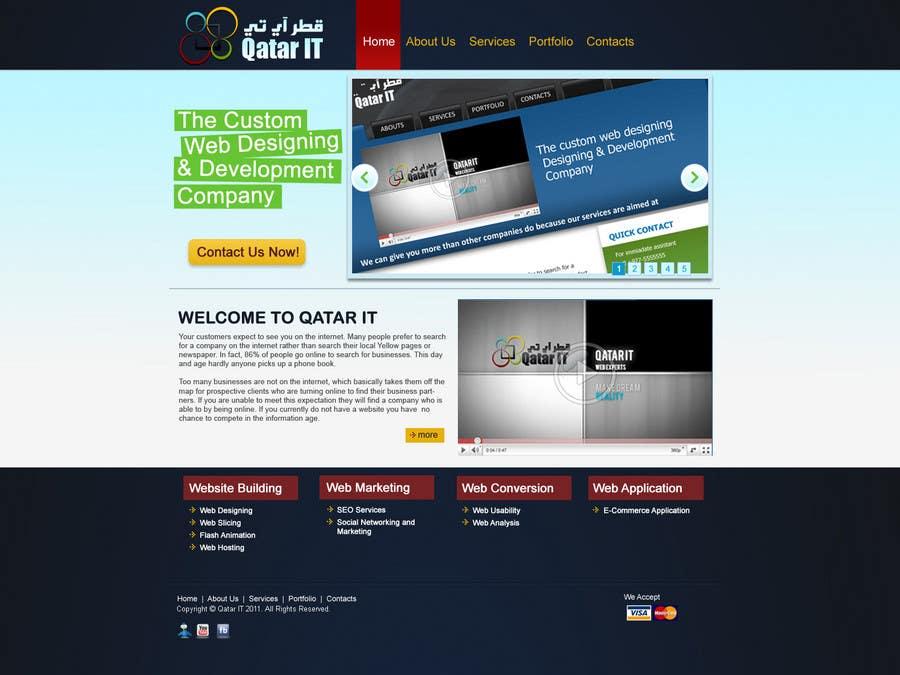 Konkurrenceindlæg #                                        84                                      for                                         Website Design for Qatar IT