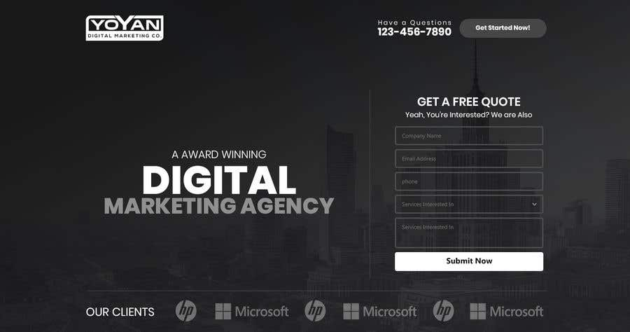 Entry #9 by mahajansanjay05 for Landing Page Template for Yoyan