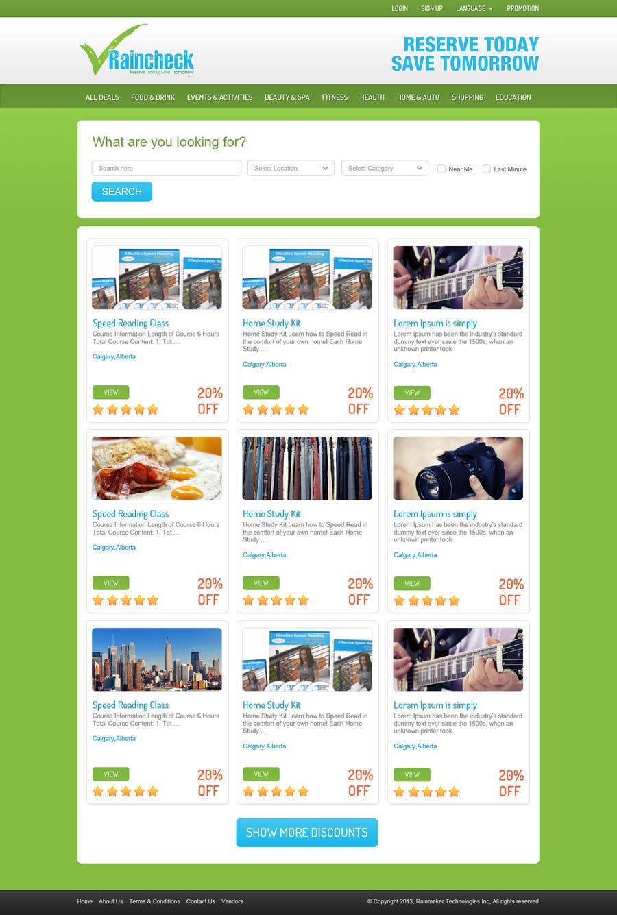 Penyertaan Peraduan #                                        15                                      untuk                                         Website Design for Raincheck